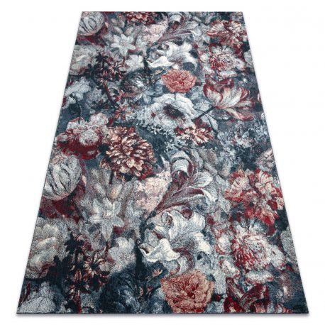 Carpet HENT 78318192 Flowers blue / claret