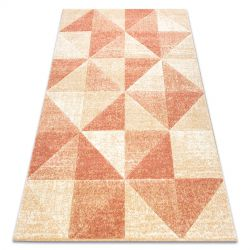 Koberec FEEL 5672/17911 Trojúhelníky béžový/terakota
