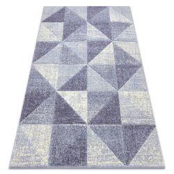 Koberec FEEL 5672/17944 Trojúhelníky béžový/fialový