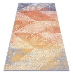 Carpet FEEL 5756/17944 Diamonds beige/terracotta/violet