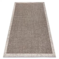 TAPPETO DI SPAGO SIZAL FLOORLUX 20401 Telaio taupe / champagne