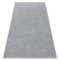 Koberec SOFT 2485 plochý, jednobarevný stříbrný