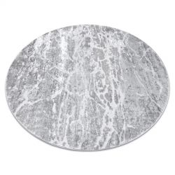 Modern MEFE carpet Circle 6182 Concrete - structural two levels of fleece grey