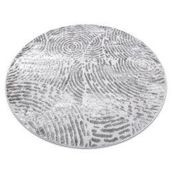 Modern MEFE carpet Circle 8725 Circles Fingerprint - structural two levels of fleece grey