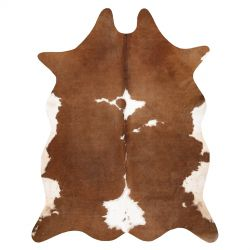 Tapis Imitation Peau de vache, Vache G5070-2, marron cuir
