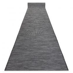 Sznurkowy, płaskotkany Chodnik PATIO Sizal jednolity, wzór 2778 czarny