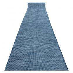 Lapos szövésű futó szőnyeg SIZAL PATIO egységes formatervezésű, 2778 kék