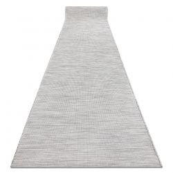 Плоский тканий бігун SISAL PATIO, рівномірний дизайн 2778 сірий
