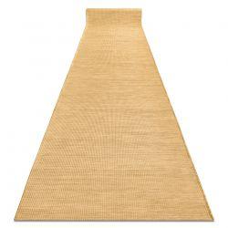 Lapos szövésű futó szőnyeg SIZAL PATIO egységes formatervezésű, 2778 sárga, arany
