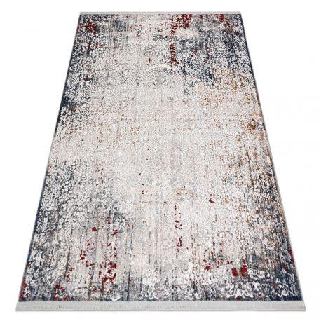 Modern carpet REBEC fringe 51151A Ornament vintage - two levels of fleece grey / cream