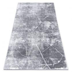 Dywan MEFE nowoczesny 2783 Marmur - Strukturalny, dwa poziomy runa ciemnoszary
