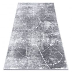 модерен килим MEFE 2783 мрамор - structural две нива на руно тъмно сив