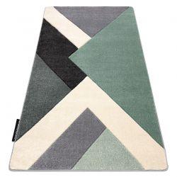 Koberec ALTER Ice Geometrický, trojúhelníky zelená / šedá