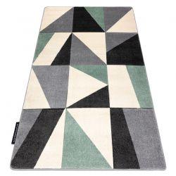 Koberec ALTER Fiori Geometrický, trojúhelníky, čtverce zelená