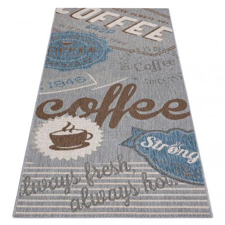 Carpet for the kitchen, Runner COLOR 19212053 SISAL grey / beige