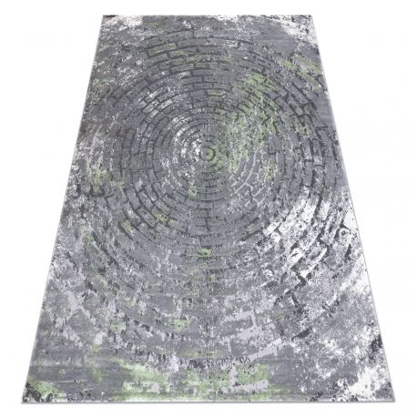 Carpet OPERA 0W9790 C90 54 Circles, Brick vintage - structural two levels of fleece grey / green