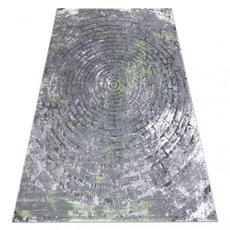 Teppich OPERA 0W9790 C90 54 Kreise, Backstein, vintage - Structural zwei Ebenen aus Vlies grau / grün