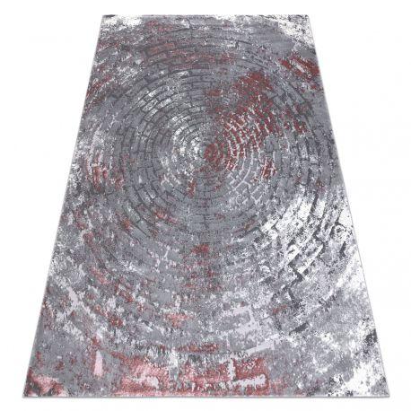 Teppich OPERA 0W9790 C90 58 Kreise, Backstein, vintage - Structural zwei Ebenen aus Vlies grau / rosa