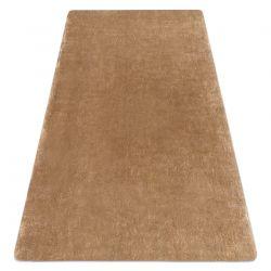 Moderní koberec LAPIN shaggy, protiskluzový, mycí slonová kost / hnědý