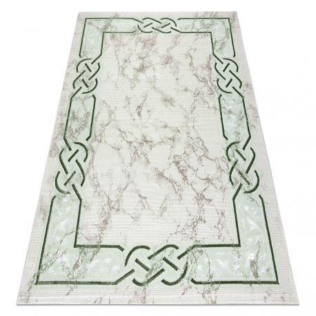 Teppich OPERA 0W9785 C89 45 Rahmen - Structural zwei Ebenen aus Vlies elfenbein / grün