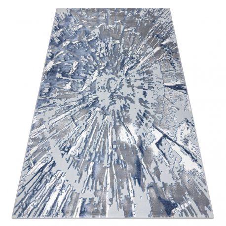 Tappeto OPERA 0W9794 C92 54 Astrazione - Structural due livelli di pile grigio / blu