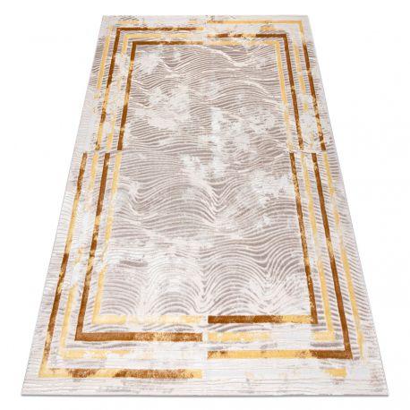 Tapis OPERA 0W9788 C91 45 Cadre, Vagues - Structural deux niveaux de molleton ivoire / cuivre