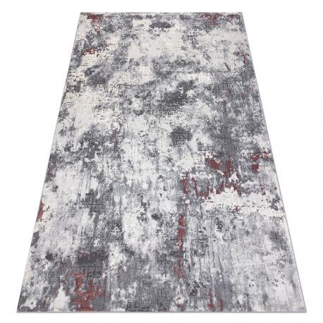 Teppich OPERA 0A002A C90 48 vintage - Structural zwei Ebenen aus Vlies elfenbein / dunkelpink