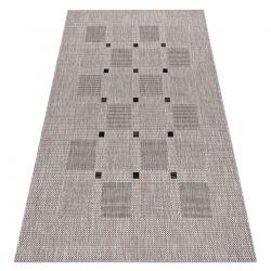 Fonott sizal floorlux szőnyeg 20079 ezüst / fekete