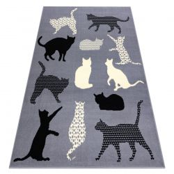 Carpet BCF FLASH Cats 3996 - kitties grey