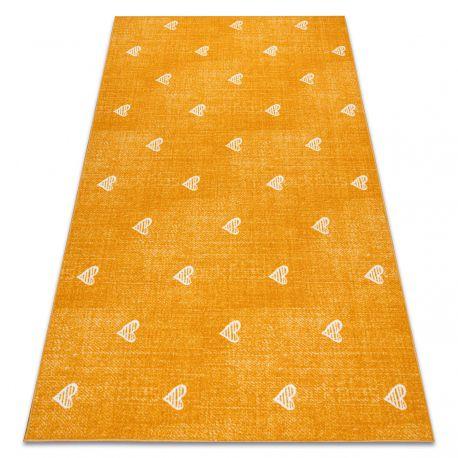 Carpet for kids HEARTS Jeans, vintage children's - orange