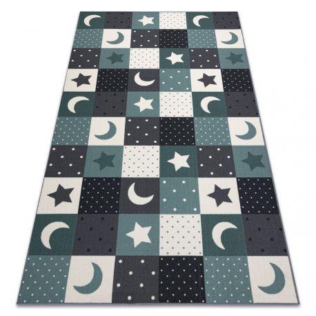 Килим для дітей STARS зірок бірюзовий / сірий