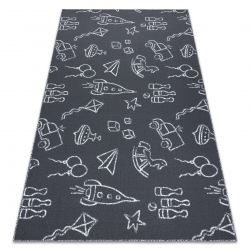 Carpet for kids TOYS to play, children's - grey