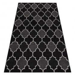 KOBEREC SIZAL FLOORLUX 20607 Marocká mřížka Černá / stříbrný