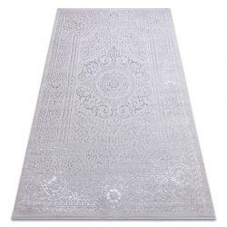 Modern MEFE carpet 8373 Ornament, frame - structural two levels of fleece grey