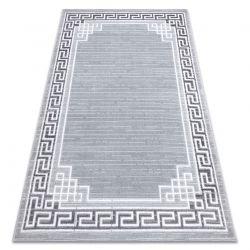 Modern MEFE carpet 9096 Frame, greek key - structural two levels of fleece grey