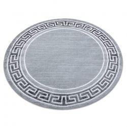Modern MEFE carpet 9096 Circle Frame, greek key - structural two levels of fleece grey