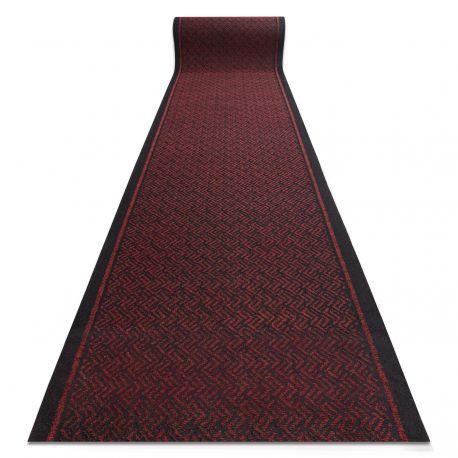 Runner - Doormat antislip 80 cm CORDOBA 3086 outdoor, indoor red