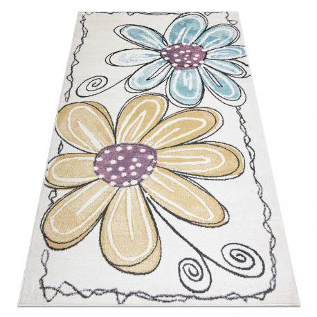 Teppich SAMPLE BONN D7201 Blumen - elfenbein