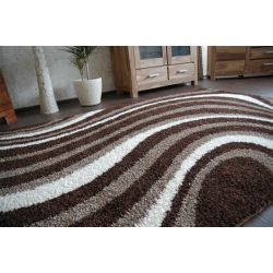 Carpet JAZZY ROLLER dark brown