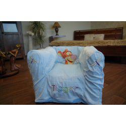 Nafukovací pouf židle pro DISNEY TIGER modrý