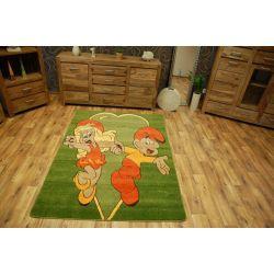 Teppich Schlümpfe grün