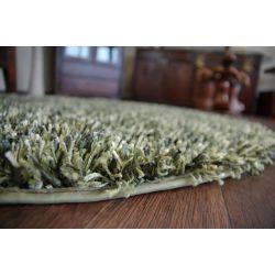 Teppich kreis SHAGGY BRILLIANT 040 grun