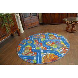 Koberec kruh BIG CITY modrý