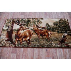 Carpet TAPESTRY - DEER olive