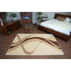 Teppich KARMEL BROWN cremig