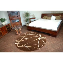 Carpet KARMEL circle CHOCO brown
