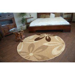 Teppich KARAMELL kreis COCOA beige