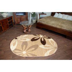 Teppich KARAMELL oval COCOA beige