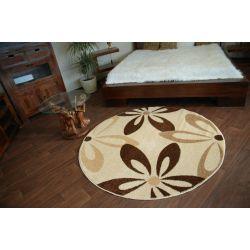 Teppich KARAMELL kreis COCOA cremig
