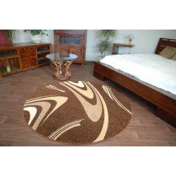 Teppich KARAMELL kreis COFFEE braun